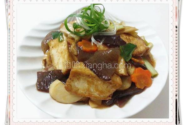 蚝油烩豆腐