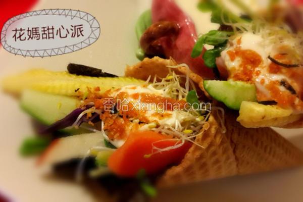 蔬果甜筒握寿司