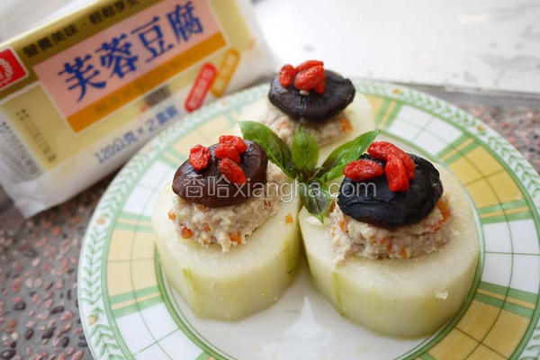 黄瓜镶豆腐肉