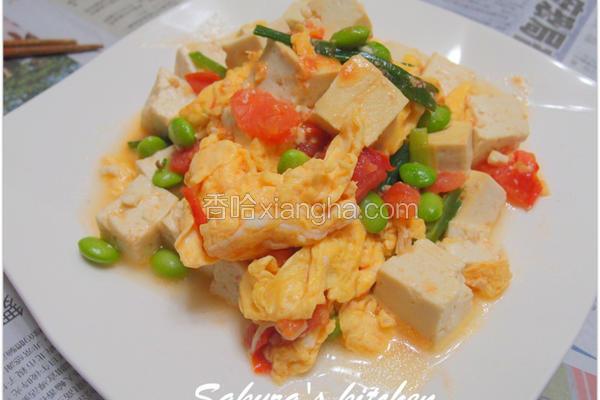 豆腐炒番茄蛋