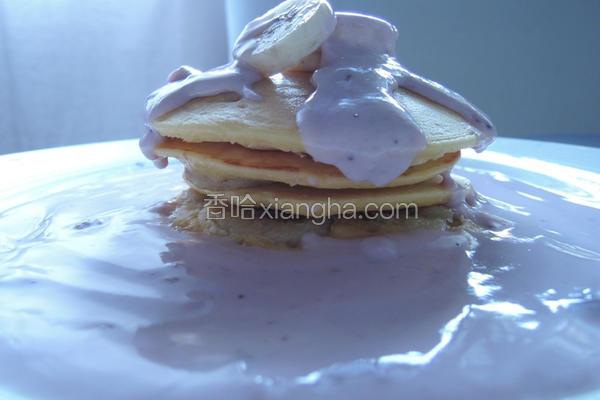 蓝莓酸奶香蕉松饼