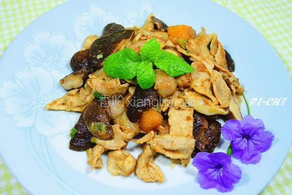 沙茶芋圆香菇肉片