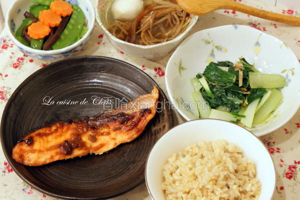 腐乳鲑鱼定食