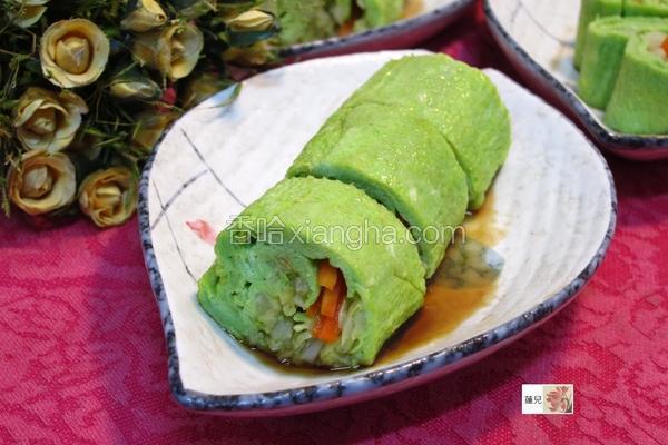 高丽菜翡翠蛋卷