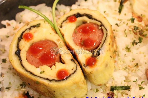 热狗海苔鸡蛋卷