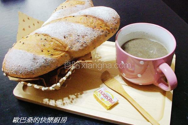 芝麻欧风面包
