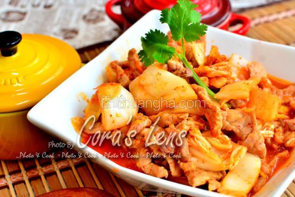 韩式泡菜炒猪肉