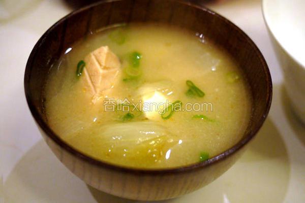 鲑鱼味噌汤