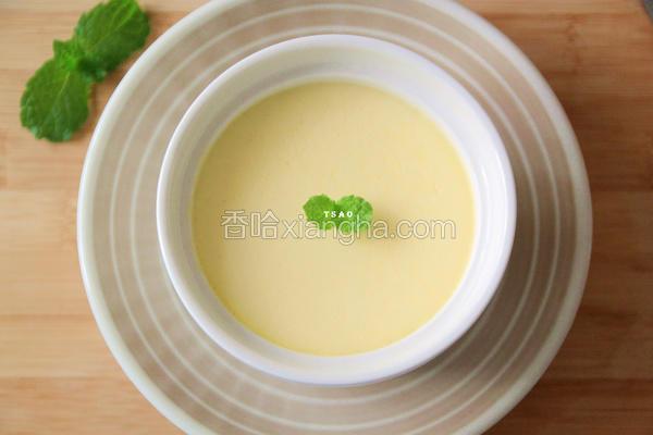 杏仁炼乳蒸布丁