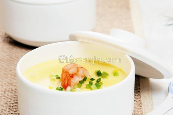 豆浆虾仁蒸蛋