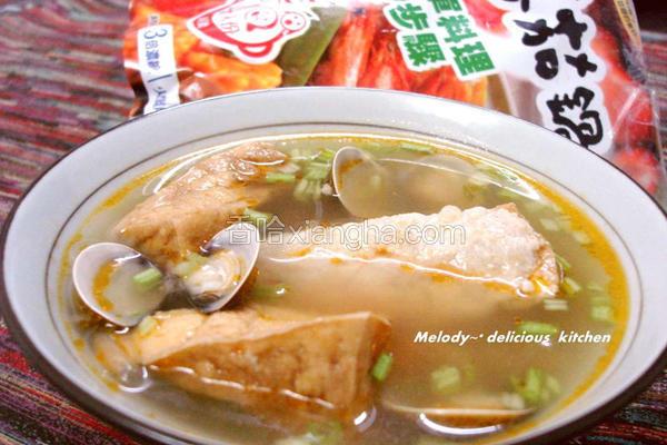 蛤蜊鲜汤油豆腐