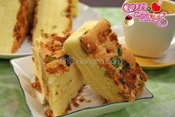 葱花肉松蛋糕