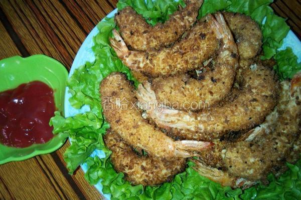 金黄凤尾虾