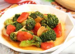 番茄炒西兰花