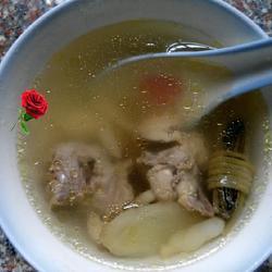 灯芯麦冬鸡肉汤