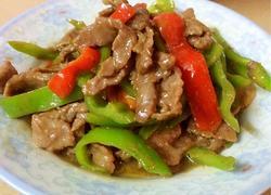 青椒牛肉小炒