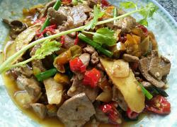泡椒炒猪肝