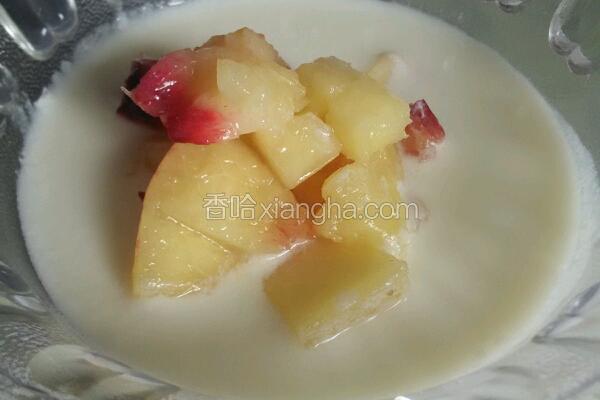 自制水蜜桃酸奶