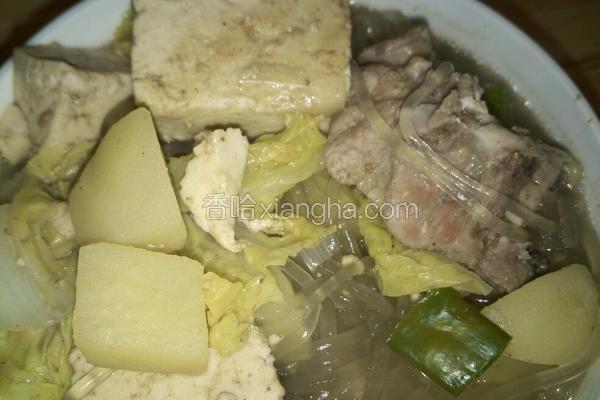 排骨炖豆腐