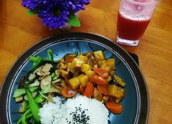 咖喱鸡块饭菜谱