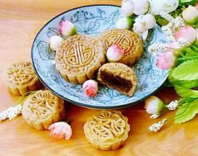 紅豆沙餡廣式月餅[圖]