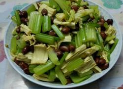 芹菜腐竹拌花生米