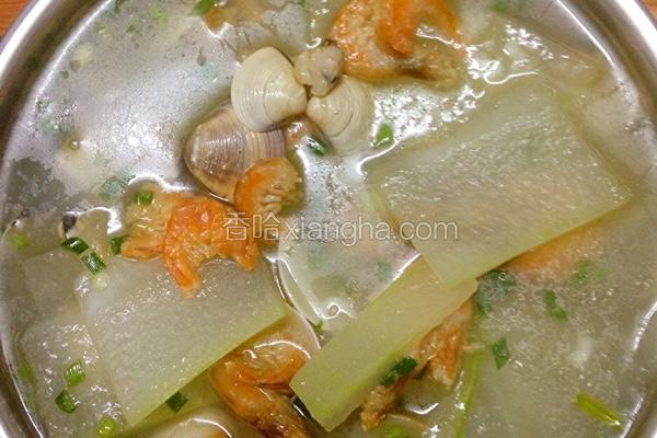 白贝虾仁冬瓜汤