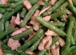 蒜香肉丝豇豆
