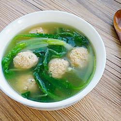 小白菜汆丸子汤的做法[图]