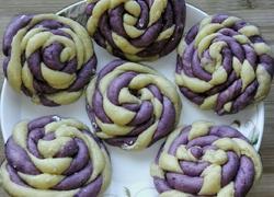紫薯麻花馒头
