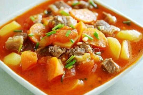 粤菜:里脊肉土豆番茄汤