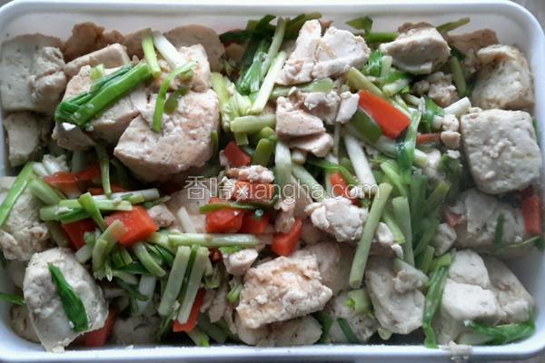 蒜苗炒豆腐