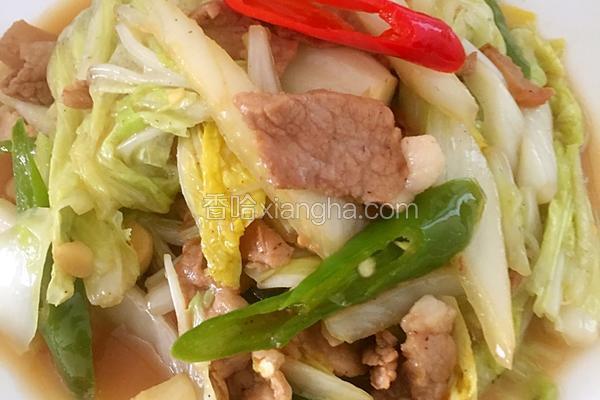 土猪肉炒白菜