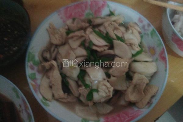 鸡胸肉炒杏鲍菇