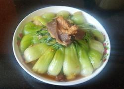 油菜炒鲜蘑