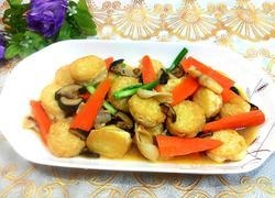 香菇焖口袋豆腐