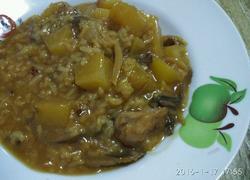 鸡肉鲜蘑土豆饭