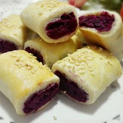 黄金紫薯卷
