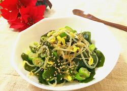 裙带菜拌黄豆芽(韩式拌菜口味)