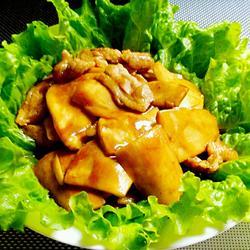 肉片炒鸡腿菇的做法[图]