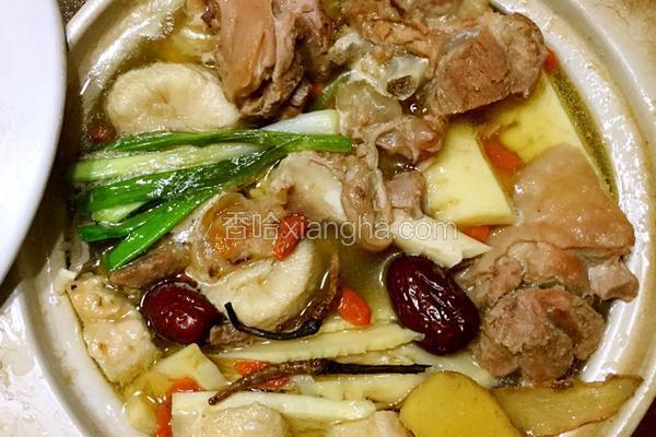 鲜猴头菇,虫草羊肉煲
