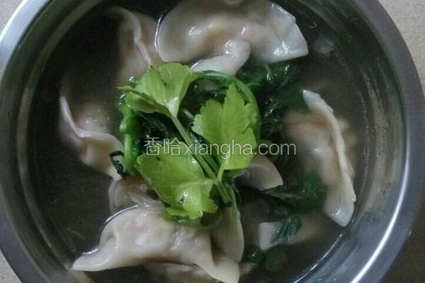 西洋菜饺子汤