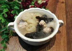 海参木耳肉丸汤