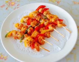彩椒烤肉串[图]