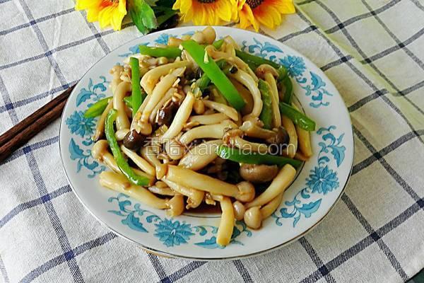 尖椒蚝油炒双菇
