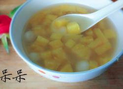 糯米圆子菠萝甜汤