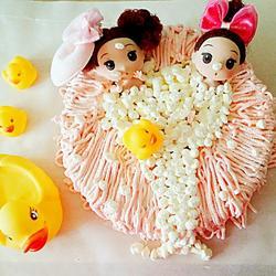 姐妹淘泡泡浴蛋糕(8寸)