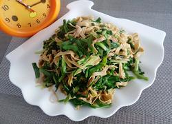 韭菜豆腐皮炒肉丝