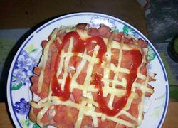 面包番茄培根披萨