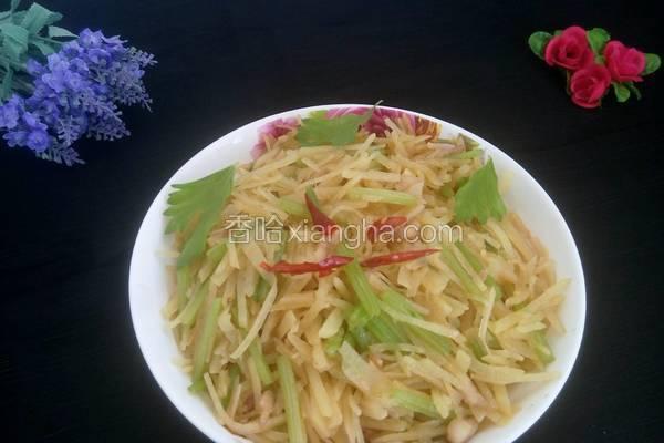 土豆丝炒芹菜